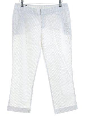 Mexx Pantalone a 3/4 bianco sporco-ocra gessato stile casual