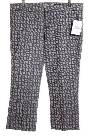 Mexx 7/8-Hose grau-hellgrau abstraktes Muster Street-Fashion-Look