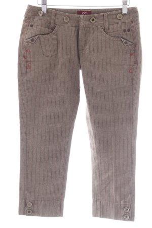 Mexx 7/8-Hose graubraun-dunkelrot Streifenmuster Casual-Look