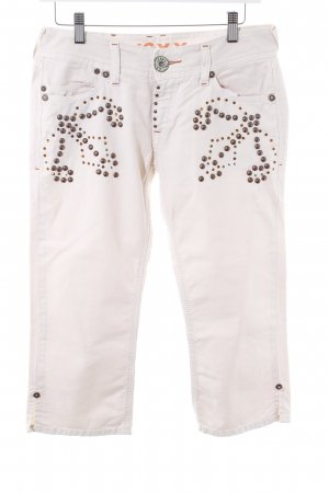 Mexx Jeans a 7/8 crema stile casual