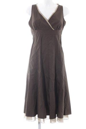 Mexx Robe trapèze brun foncé-beige style décontracté