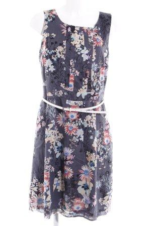 Mexx A-Linien Kleid grau Blumenmuster Romantik-Look