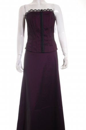 Mexx Abendkleid purpur Spitzenbesatz