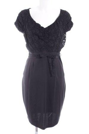 Mexx Abendkleid schwarz florales Muster Casual-Look
