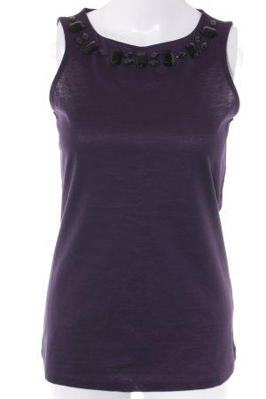 Mexx ärmellose Bluse schwarz-dunkelviolett Elegant