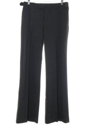 Mexx Anzughose schwarz Streifenmuster Business-Look