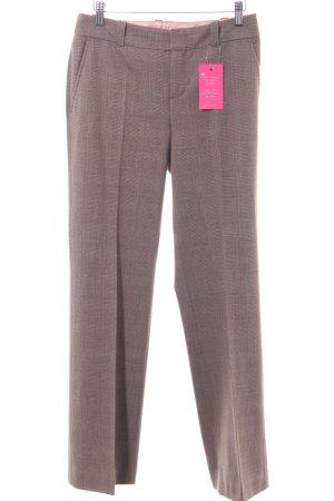 Mexx Pantalon de costume gris brun-brun foncé motif à carreaux