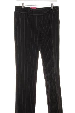 Mexx Pantalone da abito nero-bianco stile professionale