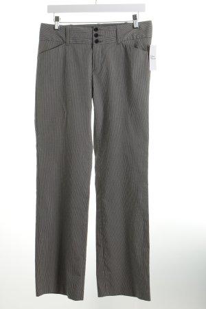 Mexx Anzughose weiß-schwarz Streifenmuster Business-Look