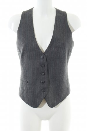 Mexx Waistcoat light grey striped pattern business style