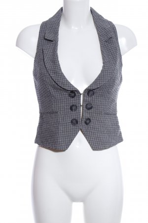 Mexx Waistcoat light grey check pattern business style