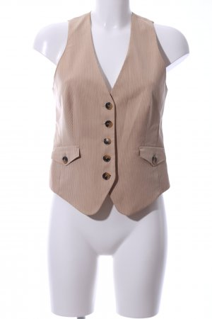 Mexx Waistcoat cream striped pattern business style