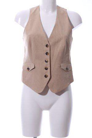Mexx Gilet de costume crème motif rayé style d'affaires