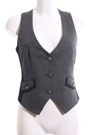 Mexx Gilet de costume gris clair-noir Motif de tissage style d'affaires