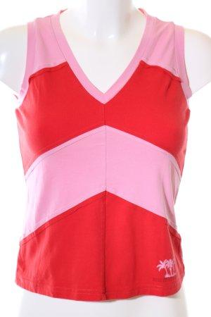 Mexx Basic Top rot-pink Streifenmuster sportlicher Stil