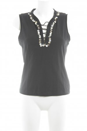 Mexx Basic Top schwarz-creme Casual-Look