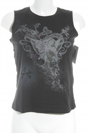 Mexx Basic Top black-light grey themed print casual look