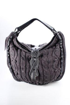 Mexx Beuteltasche schwarz-dunkelgrau Zopfmuster Casual-Look
