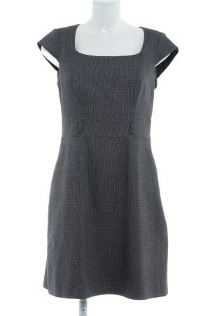 Mexx Kokerjurk zwart-grijs pied-de-poule patroon zakelijke stijl