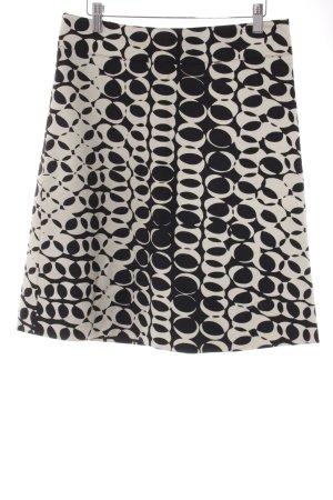 Mexx Bleistiftrock weiß-schwarz abstraktes Muster Business-Look