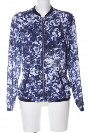 Mexx Blusón azul-blanco estampado floral look casual