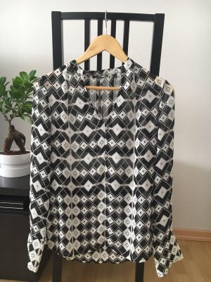 Mexx Blouse met lange mouwen zwart-wit Polyester