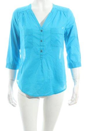 Mexx Bluse blau Casual-Look