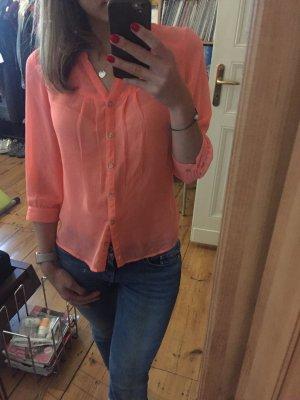 Mexx Bluse Hemd Damen Gr. S 36 Flamingo