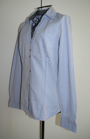 Mexx Bluse mit Rüschen und Ellbogen Patches -  Jeans Style, Gr. 34