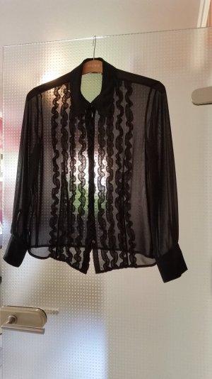Mexx Bluse schwarz transparent Gr. 38