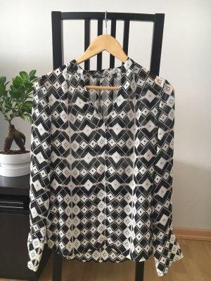 Mexx Bluse schwarz weiß gemustert