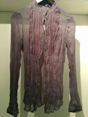 Mexx Bluse Transparent in Grau Violett Optik