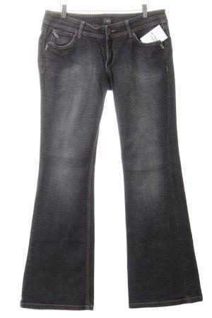 Mexx Boot Cut Jeans weiß-schwarz meliert Casual-Look