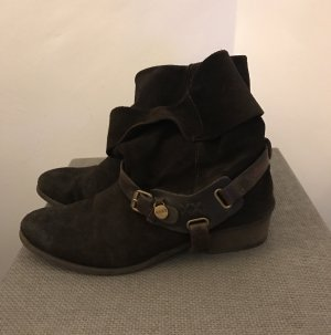Mexx Botines estilo vaquero marrón oscuro-marrón