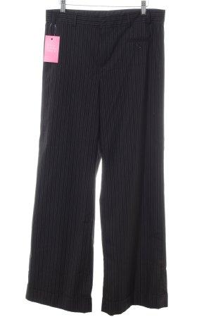 Mexx Bundfaltenhose schwarz-weiß Streifenmuster Business-Look