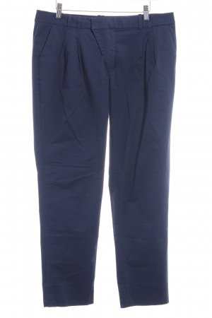 Mexx Bundfaltenhose dunkelblau Business-Look