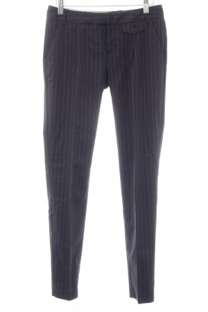 Mexx Pleated Trousers dark blue-white pinstripe business style