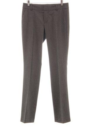 Mexx Pantalon à pinces noir-blanc style d'affaires
