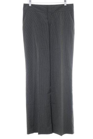 Mexx Pantalon à pinces noir-blanc rayure fine style d'affaires