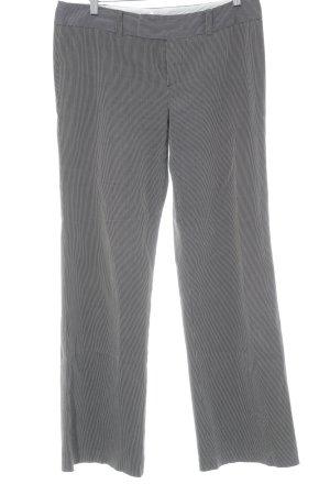Mexx Pantalon à pinces noir-blanc motif rayé style d'affaires