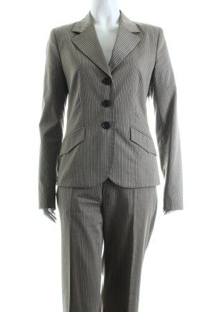 Mexx Business-Anzug hellgrau-schwarz Streifenmuster Business-Look