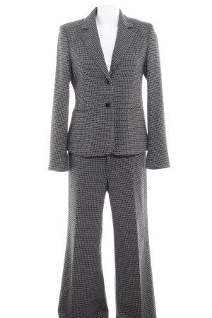 Mexx Business-Anzug schwarz-wollweiß grafisches Muster Business-Look