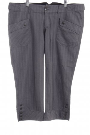 Mexx Capris dark grey striped pattern business style