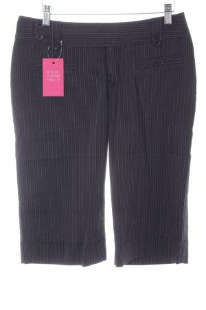 Mexx Pantalone Capri nero gessato stile casual