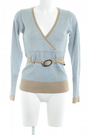 Mexx Cardigan pale blue-camel business style