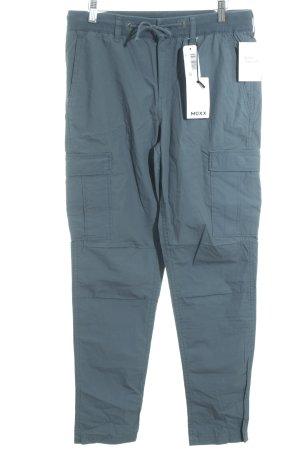 Mexx Pantalon cargo bleu pétrole style militaire
