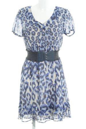 Mexx Vestido de chifón estampado de leopardo elegante
