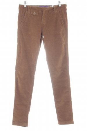 Mexx Corduroy Trousers bronze-colored striped pattern casual look