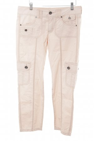 Mexx Pantalon en velours côtelé crème style décontracté