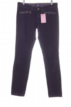 Mexx Corduroy Trousers dark violet casual look